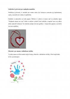 Deň matiek aktivity pre deti MŠ časť 2