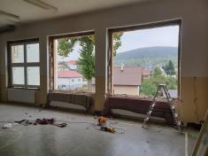 Rekonštrukcia exteriéru a  výmena rozvodov tepla ZŠ a MŠ Látky 2019